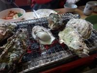 牡蠣の炭火焼き